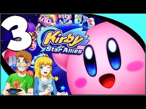 Kirby Star Allies: Walkthrough Part 3 Planet Popstar (Nintendo Switch) co-op Gameplay