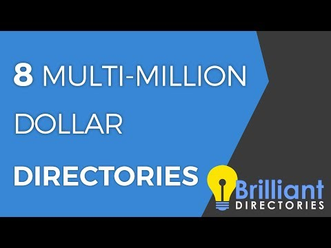 8 Multi Million Dollar Directory Sites with Directory Software