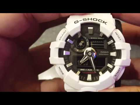 How To Set The Date & Time On Casio Gshock 5522 (Analog And Digital)