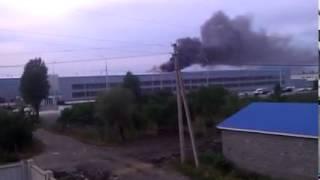 Пожар на заводе  Дервейс.