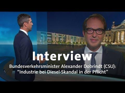 Interview: Verkehrsminister Dobrindt (CSU) zum Diesel-Skandal