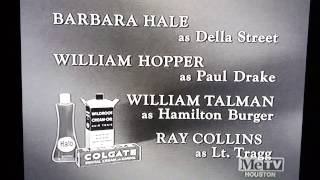 """The Colgate-Palmolive Company presents the closing credits of """"Perry Mason"""""""