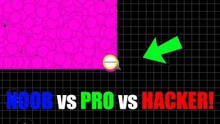 NOOB vs PRO vs HACKER vs TROLL in AGAR.IO MOBILE RUSH MODE!