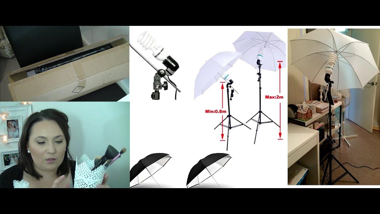My NEW lighting setup for filming! Umbrella Lights  sc 1 st  YouTube & My NEW lighting setup for filming! Umbrella Lights - YouTube
