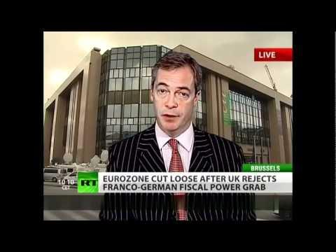 UKIP Nigel Farage on David Cameron- Russia Today Dec 9th 11