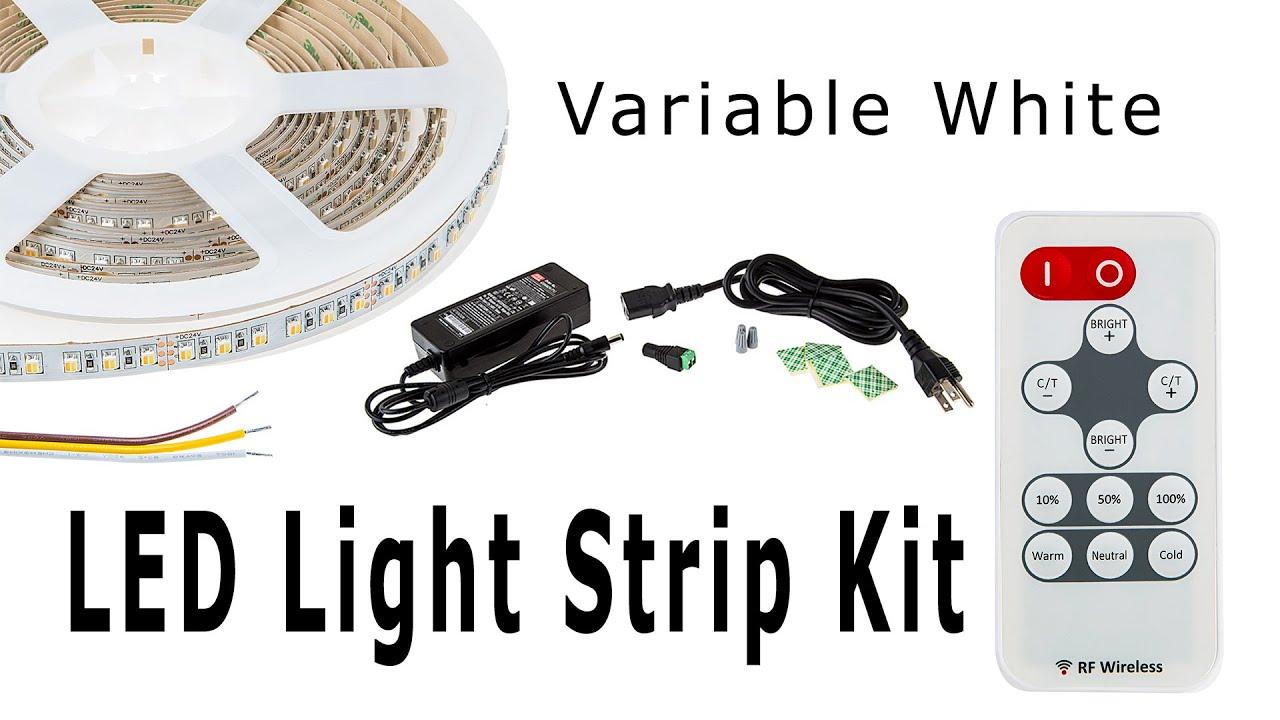 Variable white led light strip kit youtube variable white led light strip kit mozeypictures Choice Image