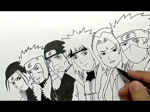 Cara Menggambar 6 Hokage Komik Naruto Untuk 1000 Subscriber