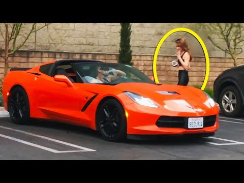 😱 See what She did when She saw he has a Chevrolet Corvette 🤑 (Part. 2)