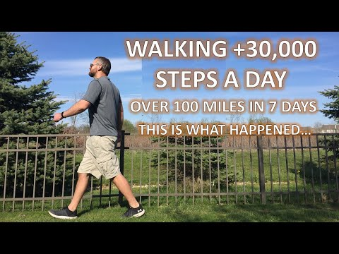 I Walked 30,000 Steps A Day / 100 Miles In 7 Day Here's What Happened