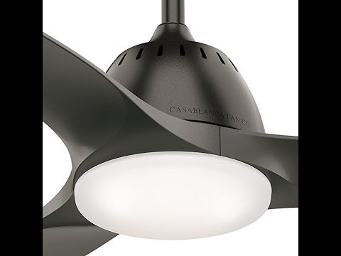 """Casablanca Fan Company 59287 Wisp Room 44"""" Ceiling Fan with Light with Handheld Remote, Small"""