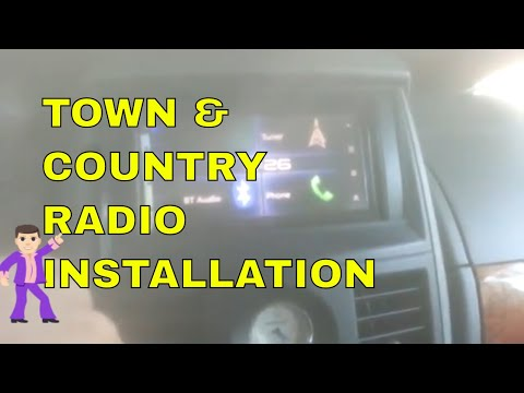 Chrysler Town & Country After-Market Double Din Radio Installation - (Step By Step Guide)