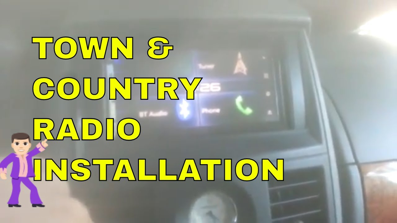 Chrysler Town Country After Market Double Din Radio Installation Step By Step Guide Youtube