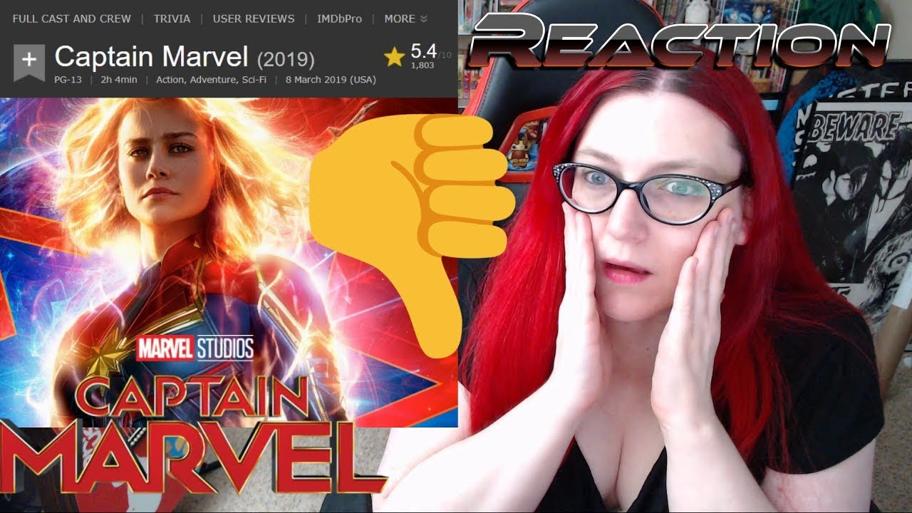 will imdb silence the captain marvel audience next? - youtube