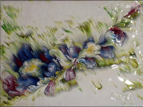 (52) Diagonal reverse flower dip