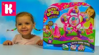 Шарики с водой и блёстками игрушки на карусели распаковка игрушки Glitzi Globes toys unboxing