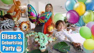 Elisas 3. Geburtstag 🎂 Strahlende Augen Geschenke auspacken! Krokodil Cupcake Cake | Mamiseelen
