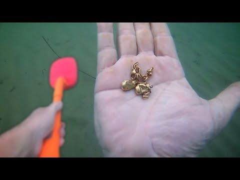 Metal Detecting Land And Ocean / Found Money, Golden Boxing Gloves And More