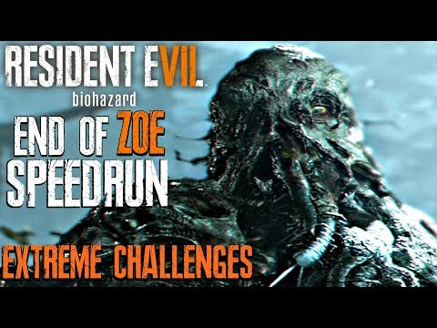 RESIDENT EVIL 7 End of Zoe - Speedrun Walkthrough Extreme Challenges (Unlock Spirit Blade)