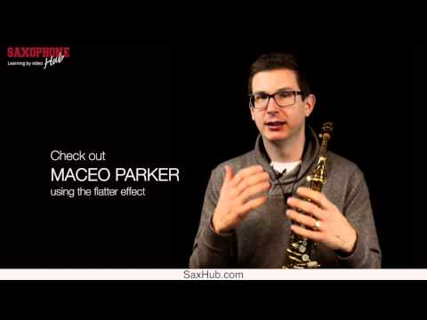 "Saxophone Lesson: The ""Flutter Effect"" on saxophone"