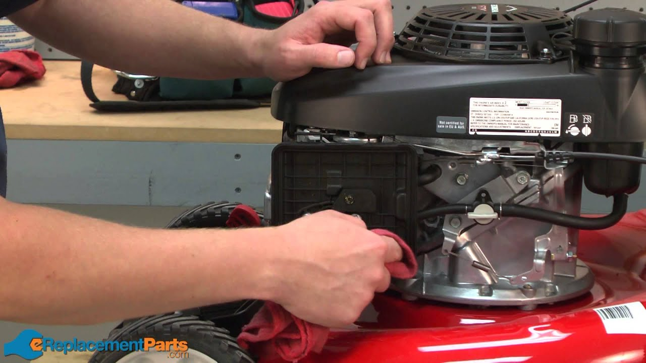how to replace the air filter on a troy bilt tb130 lawn mower part 17211 zl8 023  [ 1280 x 720 Pixel ]