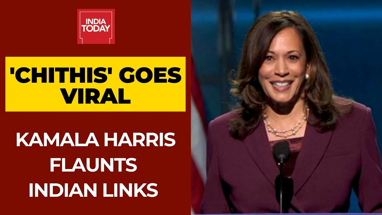 Kamala Harris Mentions Her Chithis During Speech As V P Candidate Takes Tamil Twitter By Storm Youtube
