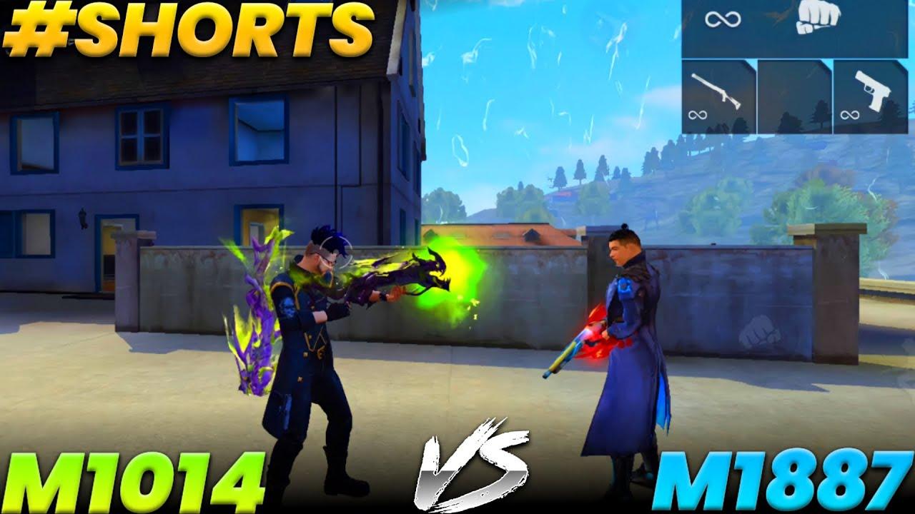 New Green Flame Draco M1014 VS M1887    M1014 VS M1887    Garena free fire #shorts