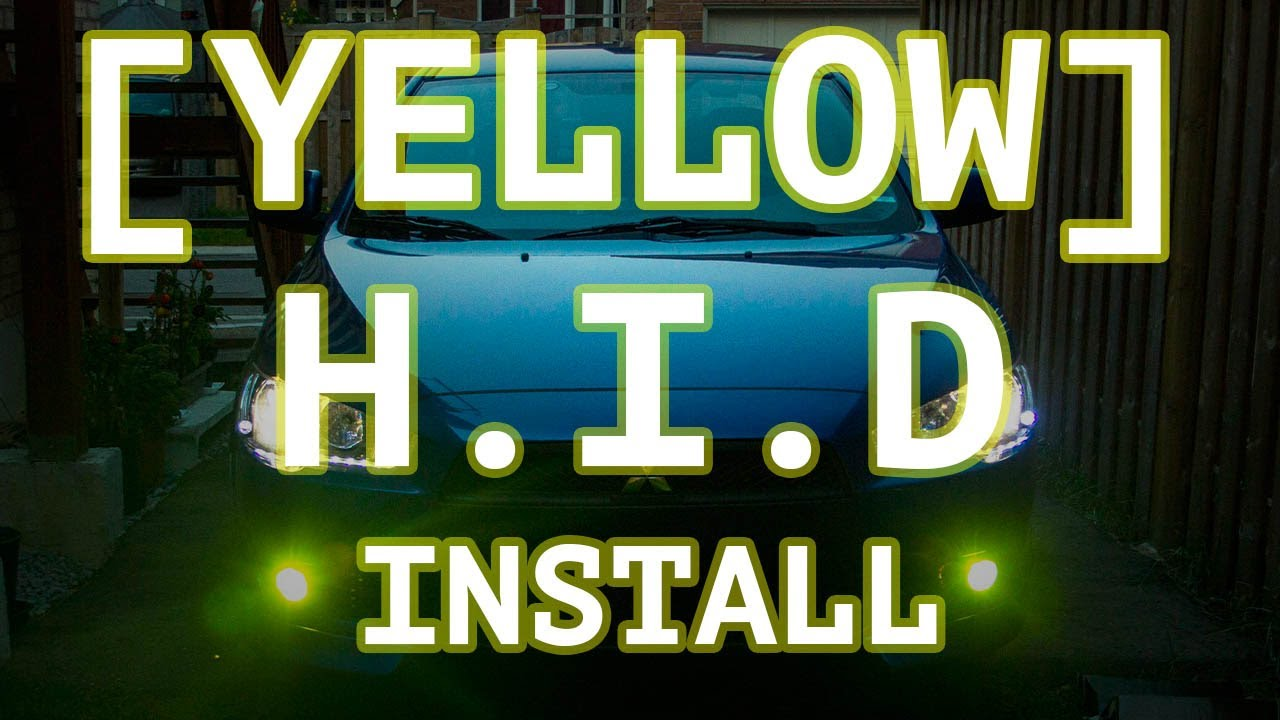 How to install yellow hid fog lights on a mitsubishi lancer youtube how to install yellow hid fog lights on a mitsubishi lancer asfbconference2016 Gallery