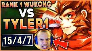 #1 WUKONG WORLD HAS THE GAME OF HIS LIFE VS. TYLER 1 (HE TILTS) - League of Legends