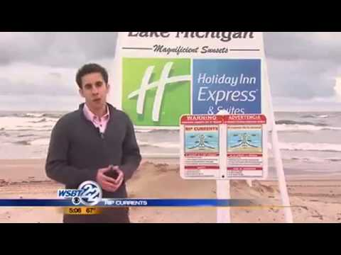 Dangerous rip currents on Lake Michigan