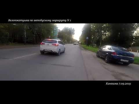Кинешма  автобусный маршрут N1 Озерки - фабрика N 2