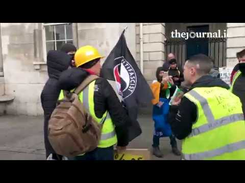 Yellow Vest Protest In Dublin