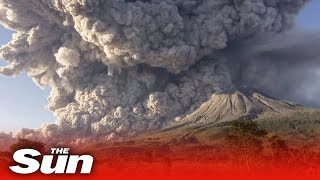 Indonesia's Mount Sinabung Volcano Violently Erupts Multiple Times