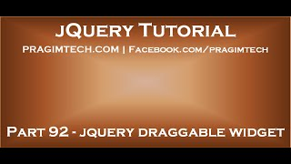 jquery draggable widget