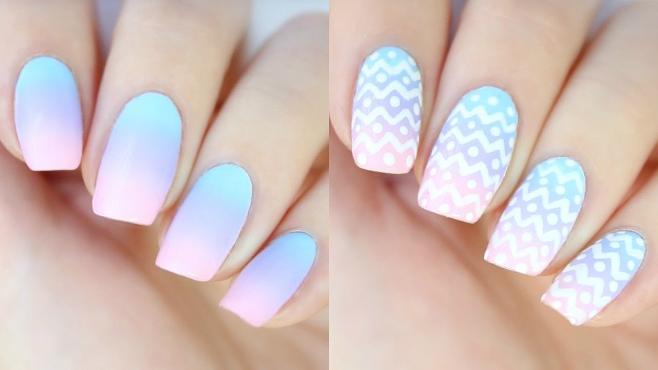 EASY Ombr Nails for Easter! - YouTube