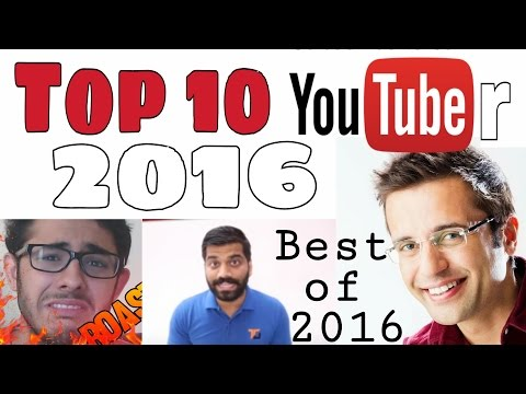 Top 10 Youtubers 2016 in India