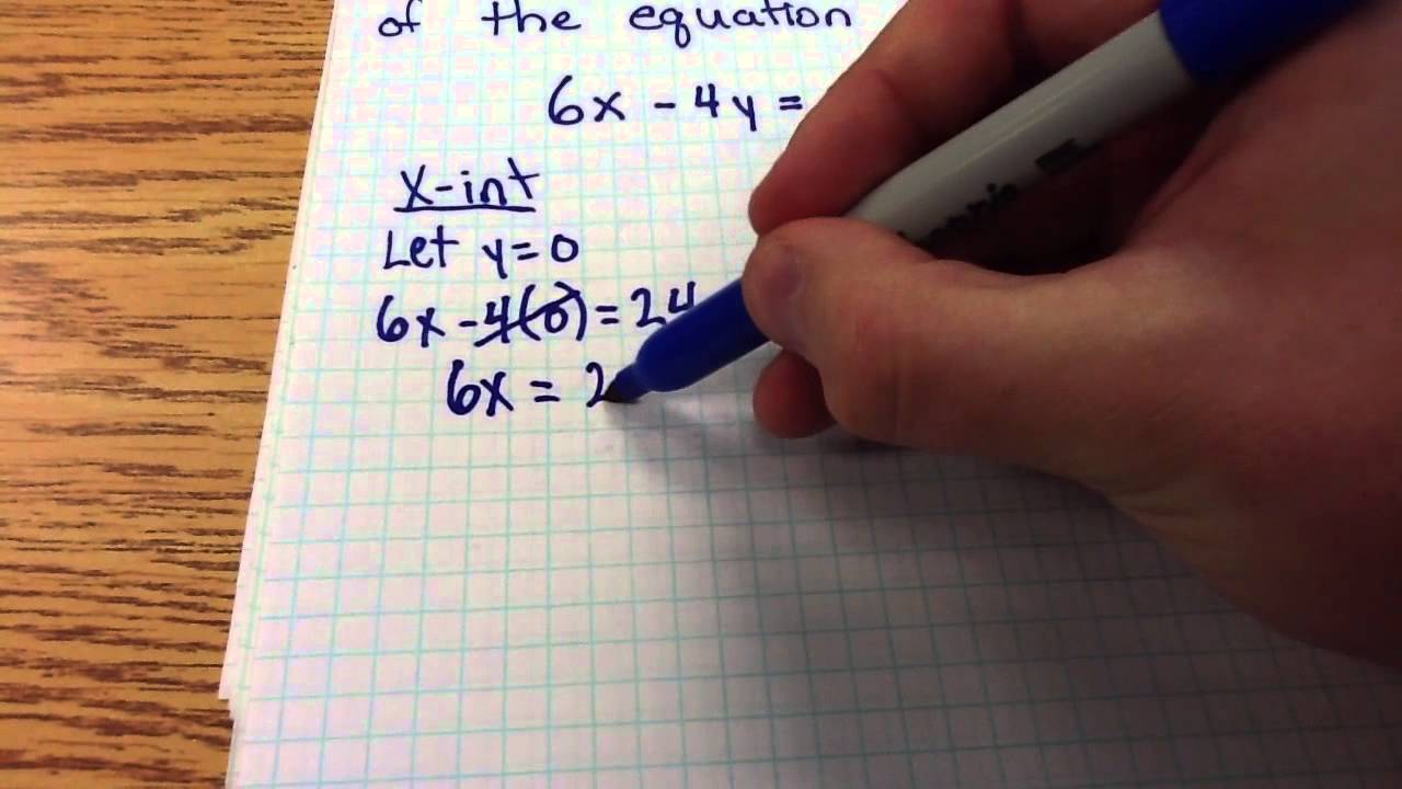 how to find x and y intercepts of a line