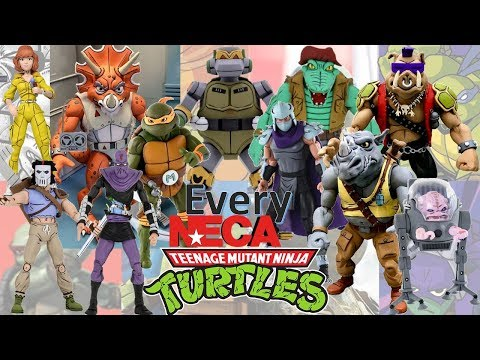 UPDATED: Every NECA TMNT Cartoon Based Teenage Mutant Ninja Turtles Comparison List