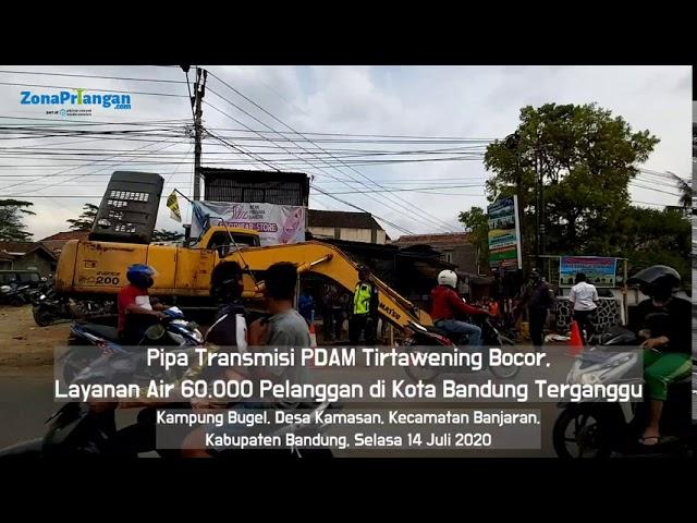 Pipa Transmisi PDAM Tirtawening Bocor, 60.000 Pelanggan Terganggu