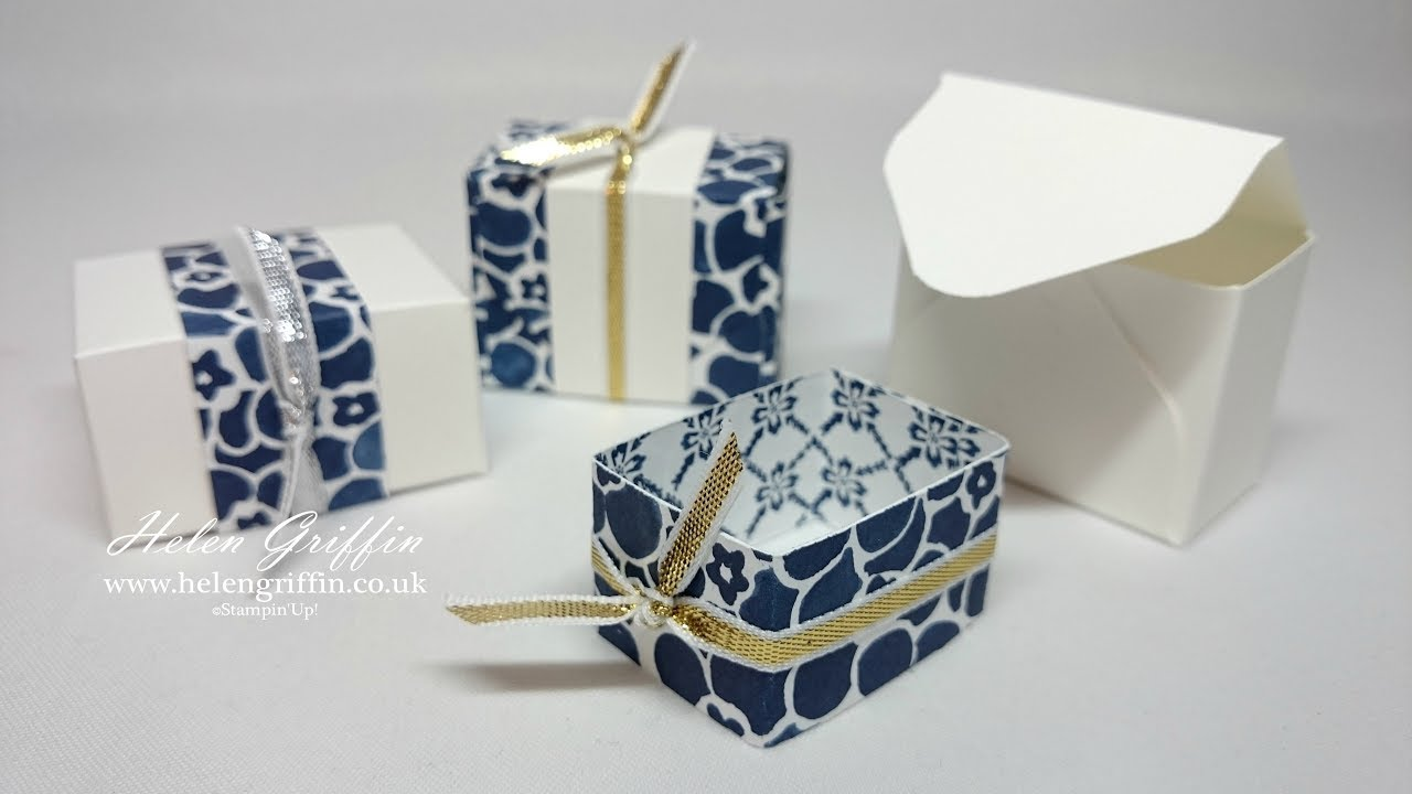 Envelope Punch Board Wedding Favour Treat Boxes - YouTube