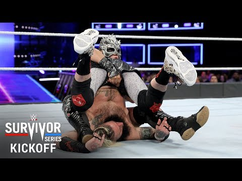 Enzo Amore brings an aggressive offense against Kalisto: Survivor Series 2017 Kickoff Match