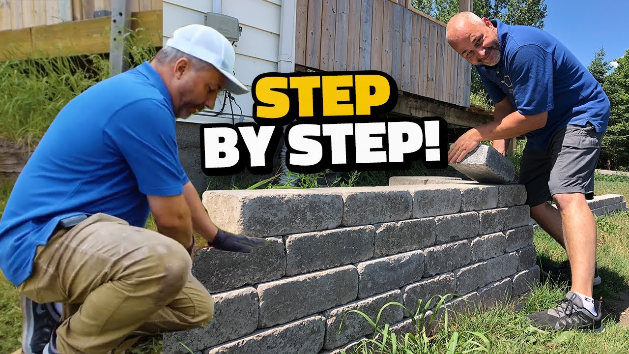 How to Build a Retaining Wall - Step by Step