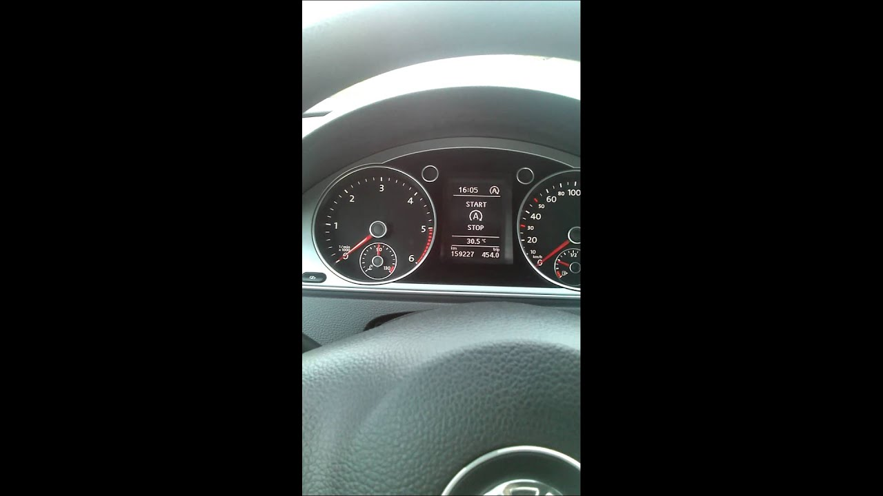 funkcja start stop volkswagen passat b7 youtube