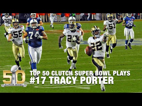 #17: Tracy Porter's Game Sealing INT in Super Bowl XLIV | Top 50 Clutch SB Plays
