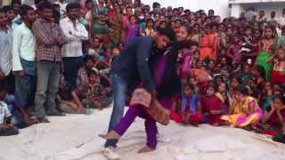 Recording dance thurakapalem stage show dance  telugu natakam