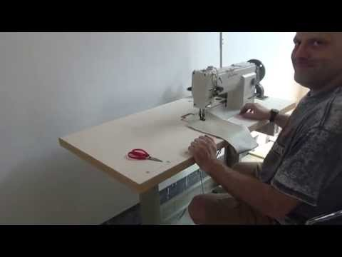 Heavy duty compound feed and walking foot lockstitch sewing machine