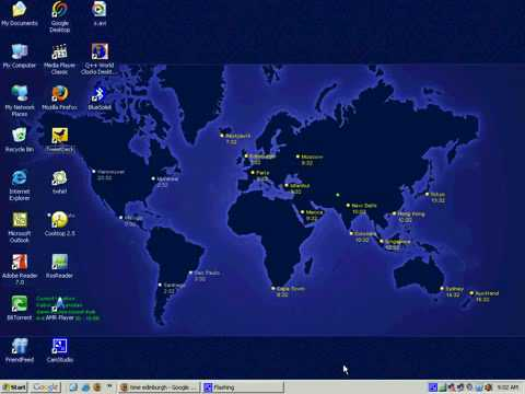 Windows tips and tricks set world clock as desktop wallpaper youtube gumiabroncs Images