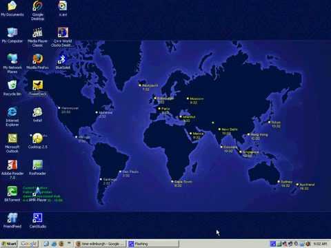 Windows Tips and Tricks - Set World Clock as Desktop Wallpaper - YouTube