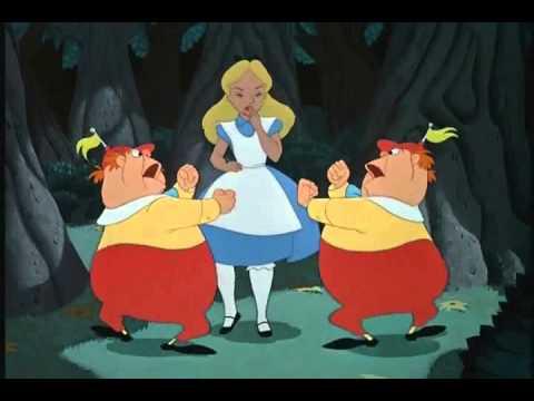 Alice in Wonderland Tweedledee and Tweedledum Slowed Down