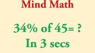 Fast Percentage Calculations in Mind!