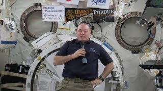Space Station Crew Member Discusses Life in Space with the Media